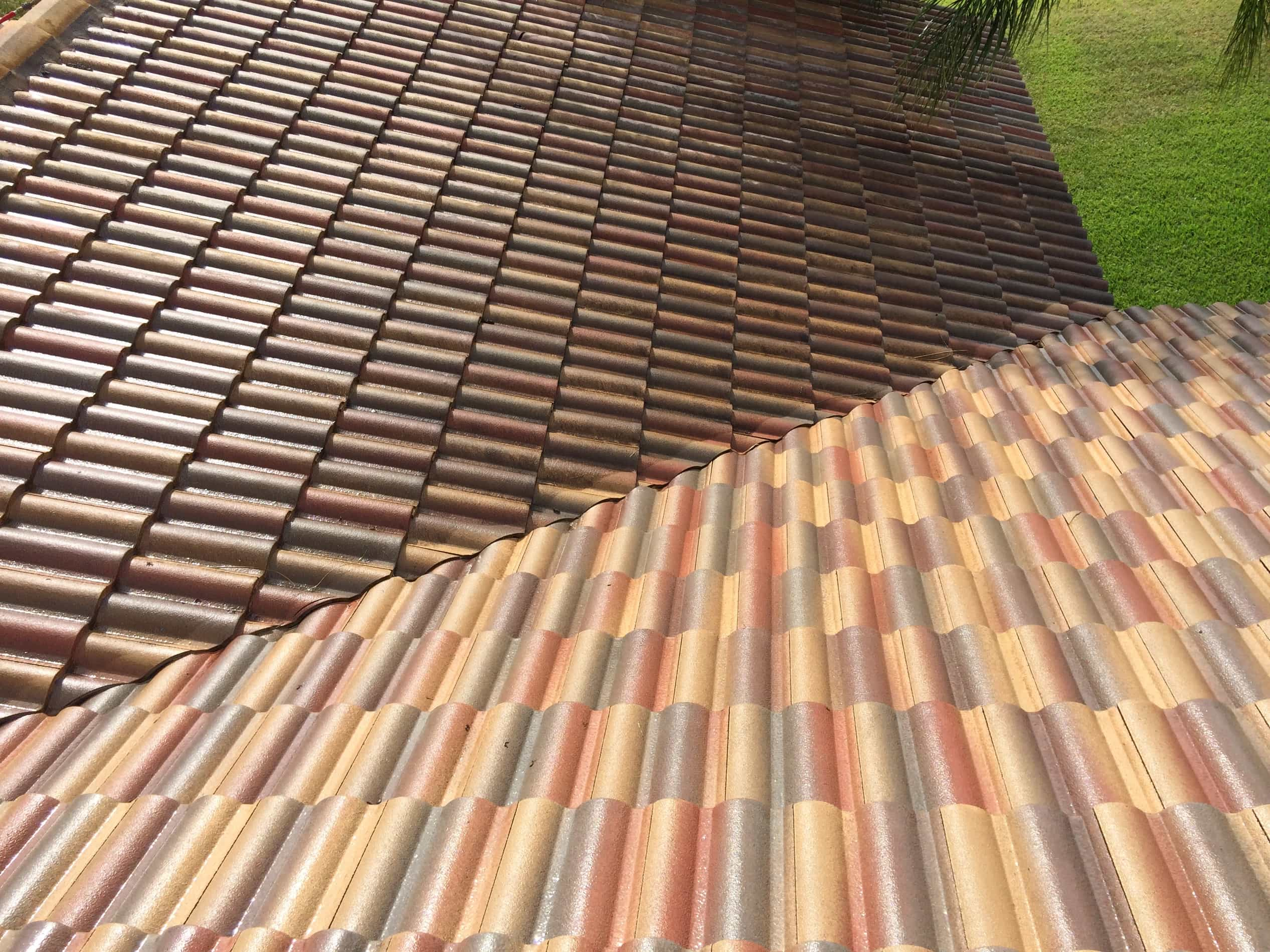 Tile Roof Cleaning Before & After